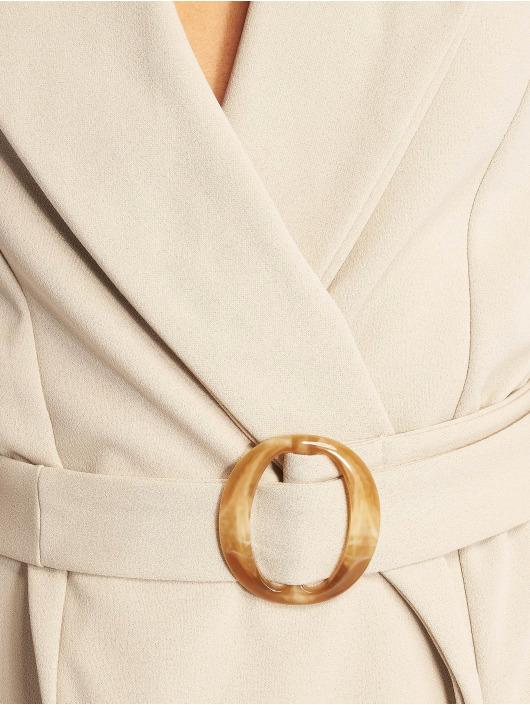 Missguided Šaty Long Sleeve Belted Blazer šedá
