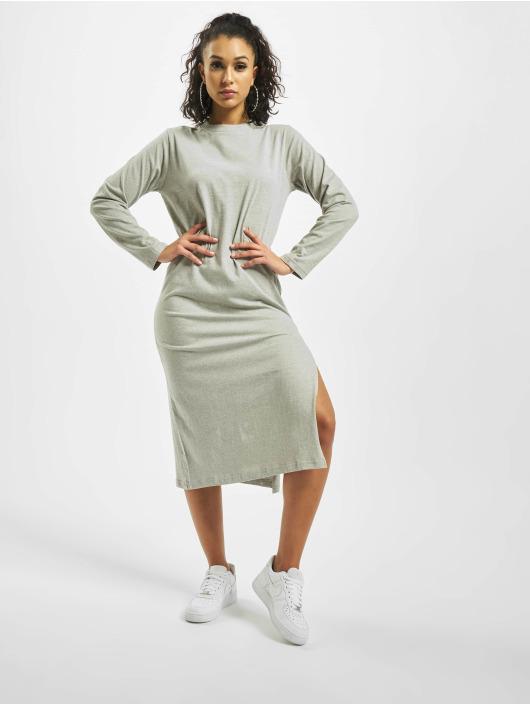 Missguided Šaty Basic Longsleeve T-Shirt Midi šedá