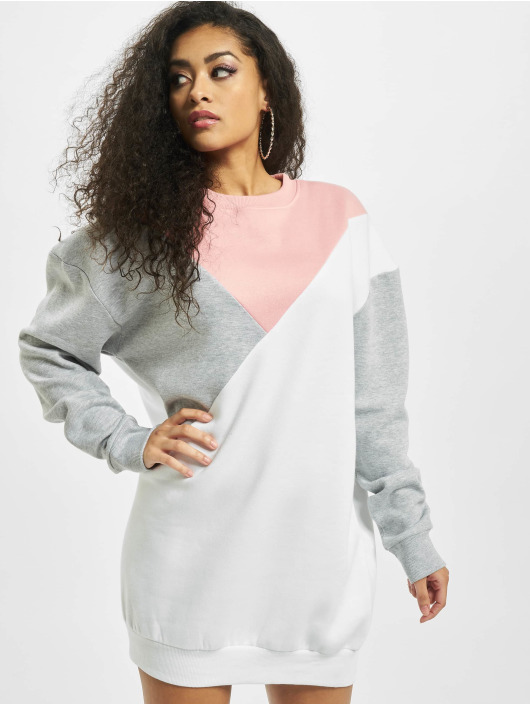 Missguided Šaty Colour Block Sweater Triangle šedá