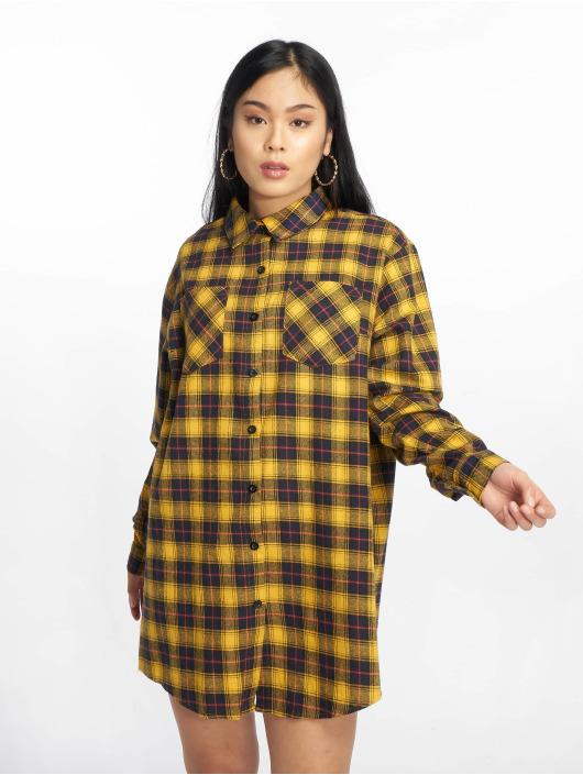 Missguided Šaty Oversized Check žltá