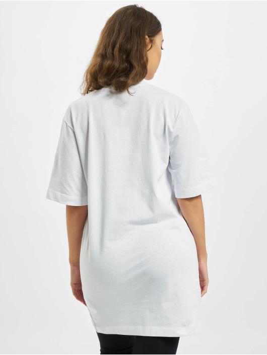 Missguided Šaty Oversized Tshirt Short Sleeve Eye bílý