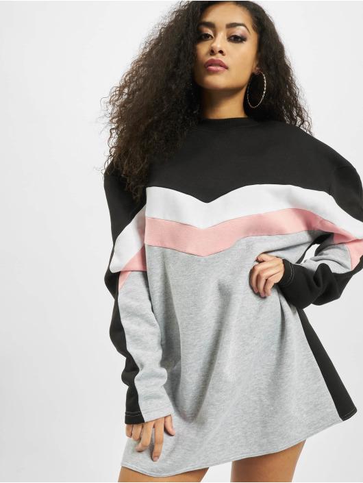 Missguided Šaty Colour Block Sweater V biela