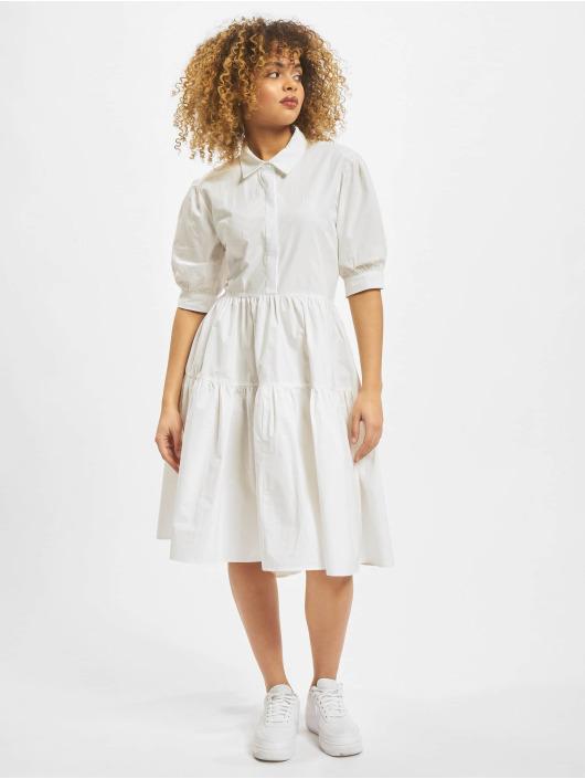 Missguided Šaty Extreme Oversized Shirt Smock biela