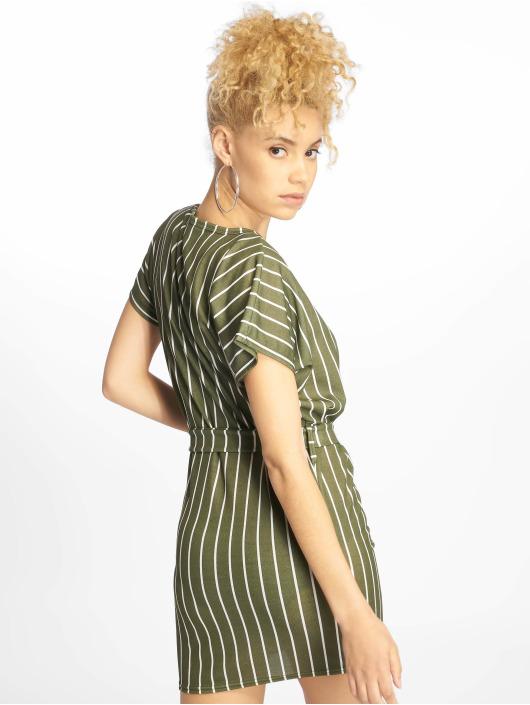 Missguided Šaty Tshirt Dress Buckle Belt hnědožlutý