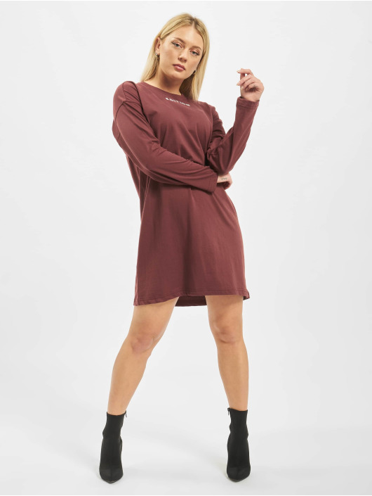 Missguided Šaty Oversized Longsleeve T-Shirt Edition hnedá