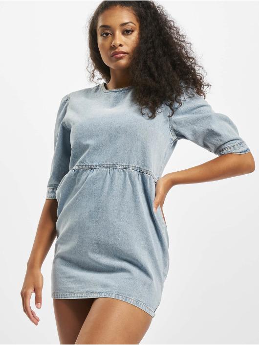 Missguided Šaty Petite Mid Sleeve modrá