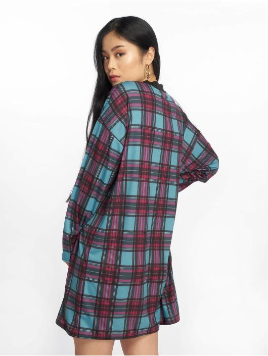 Missguided Šaty Oversized Long Sleeve modrý