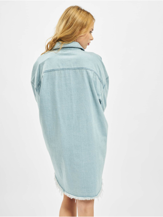Missguided Šaty Oversized Denim modrý