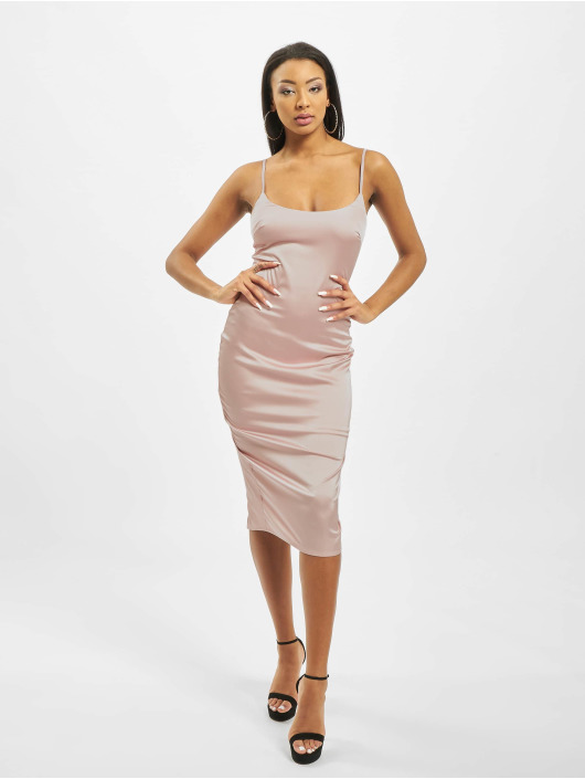 Missguided Šaty Satin Cami Bodycon pink