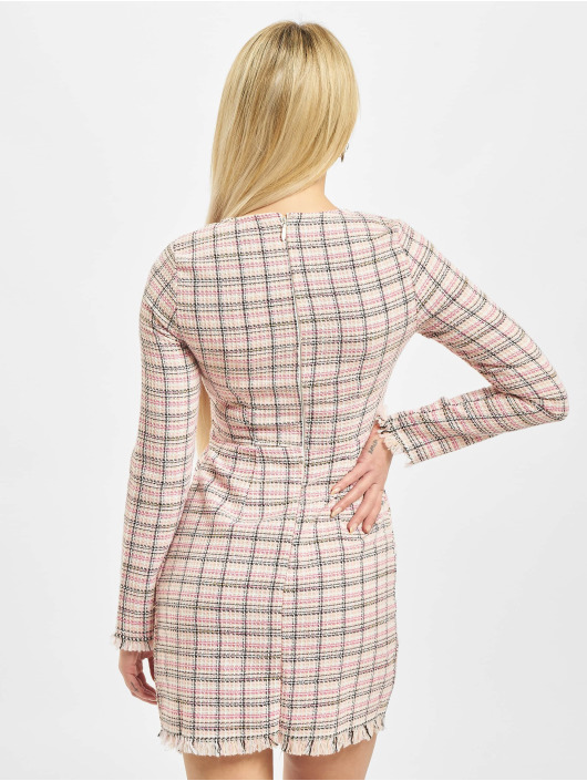 Missguided Šaty Tweed Shift pink