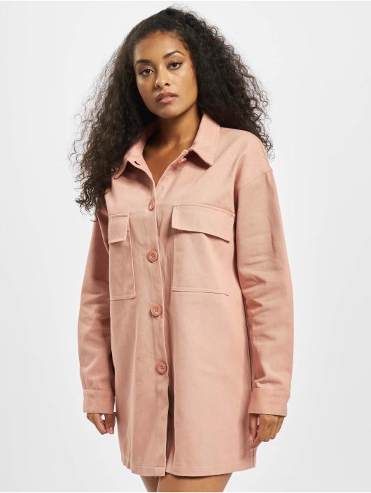 Missguided Šaty Utility Pocket Denim pink