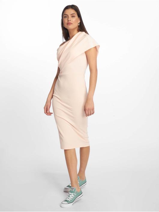 Missguided Šaty One Shoulder Midi růžový