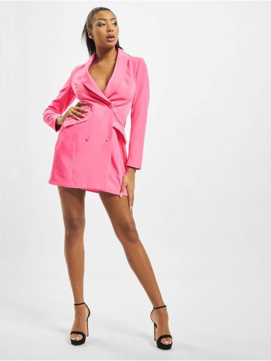 Missguided Šaty Neon Pink Blazer růžový