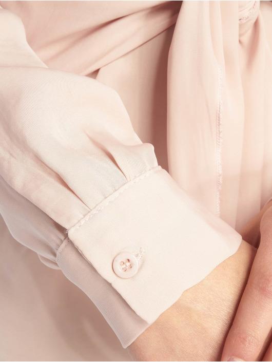Missguided Šaty Tie Waist ružová