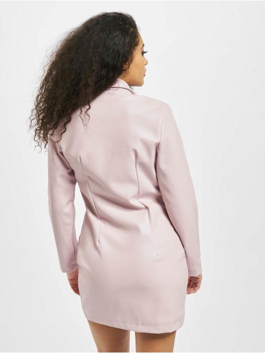 Missguided Šaty Blazer PU ružová