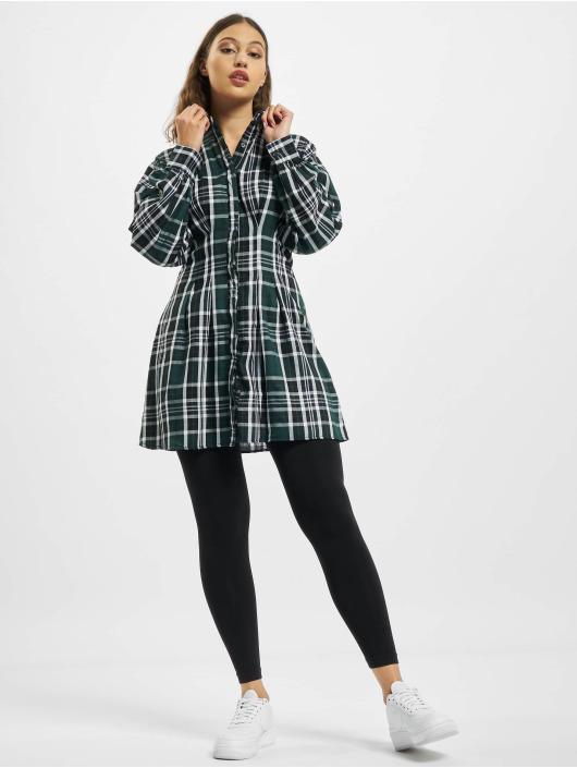 Missguided Šaty Pleated Waist Shirt zelený