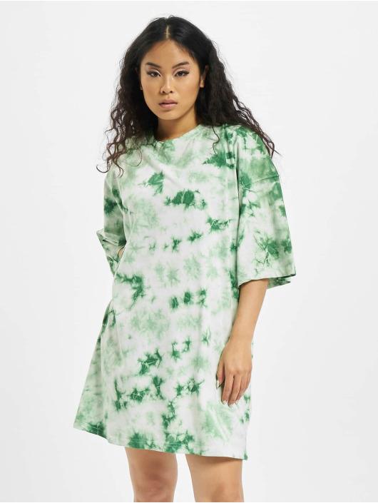 Missguided Šaty Tie Dye Oversized zelený