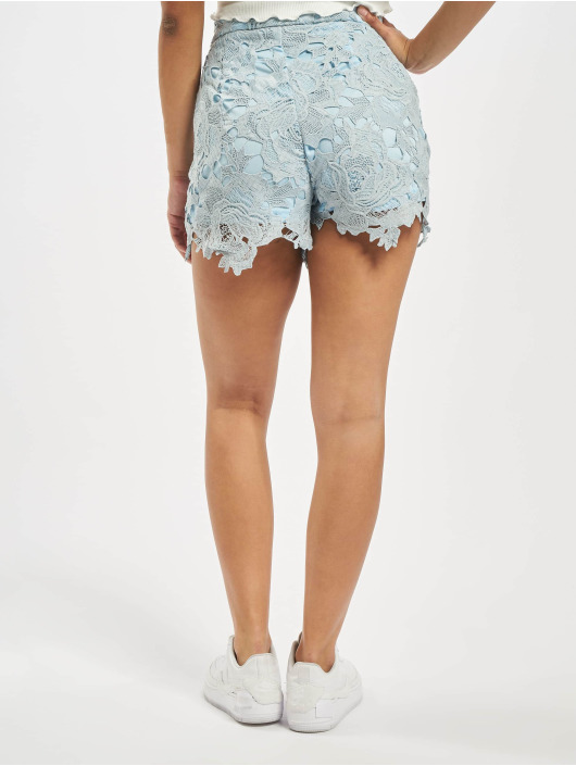 Missguided Šortky Co-Ord Crochet Lace modrá