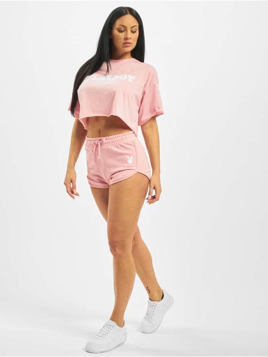 Missguided Šortky Playboy Lounge Runner ružová