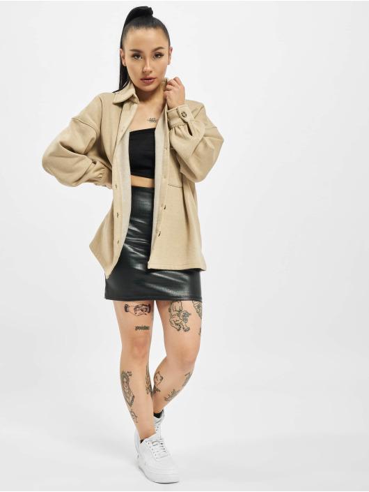 Missguided Демисезонная куртка Petite Soft Shacket бежевый