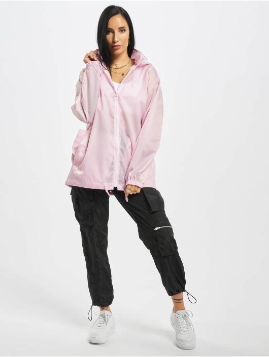 Missguided Демисезонная куртка Bumbag Pac A Mac розовый