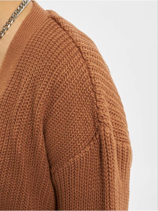 Missguided Кардиган Belted Maxi коричневый