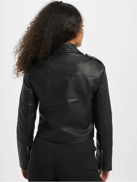 Missguided Кожаная куртка Ultimate Boxy Faux Leather Biker черный