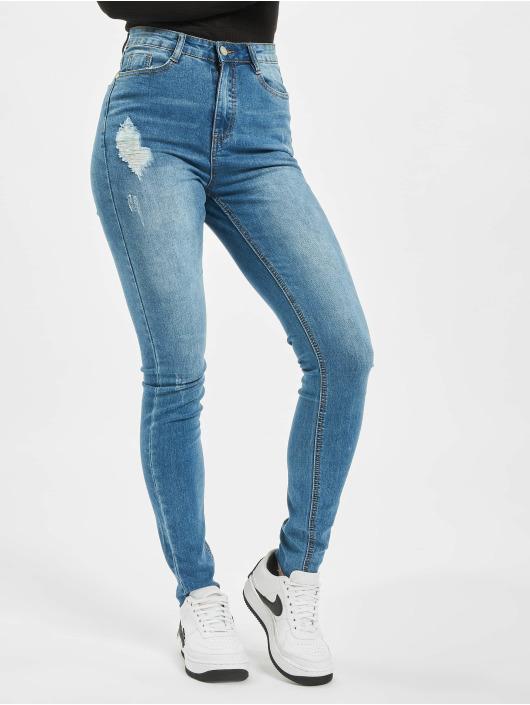 Missguided Облегающие джинсы Tall Sinner Clean Distress синий