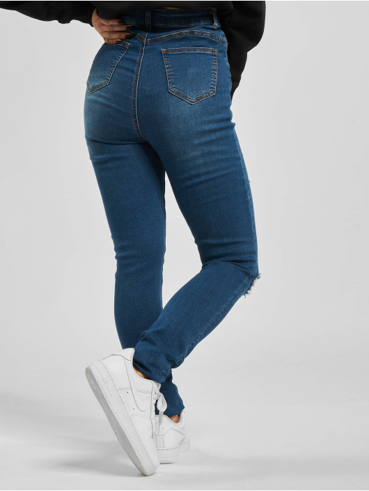 Missguided Облегающие джинсы Mg X Assets Distress Sinner синий
