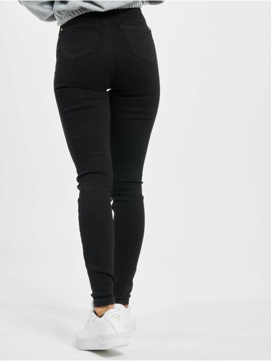 Missguided Облегающие джинсы Vice Highwaisted Slash Knee черный