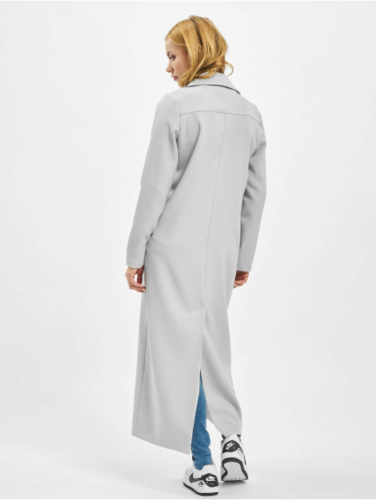 Missguided Пальто Long Sleeve Maxi Duster серый