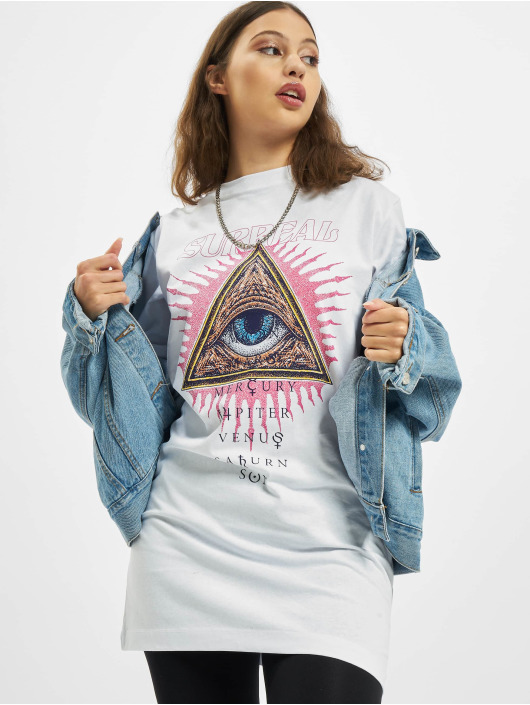 Missguided Платья Oversized Tshirt Short Sleeve Eye белый