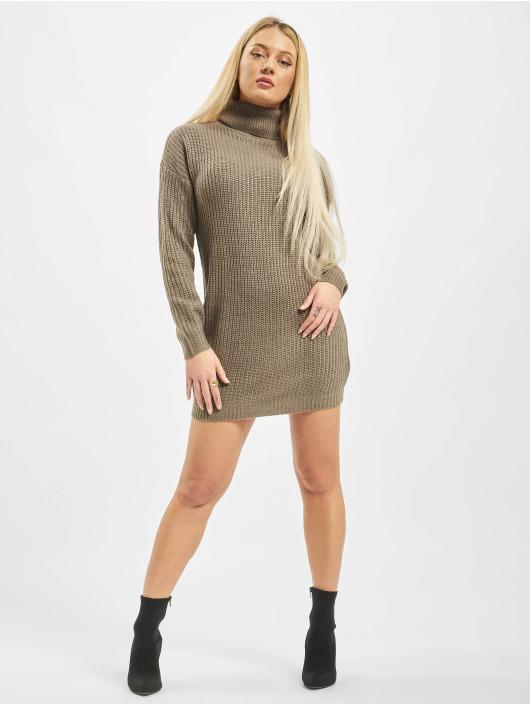 Missguided Платья Roll Neck Basic коричневый