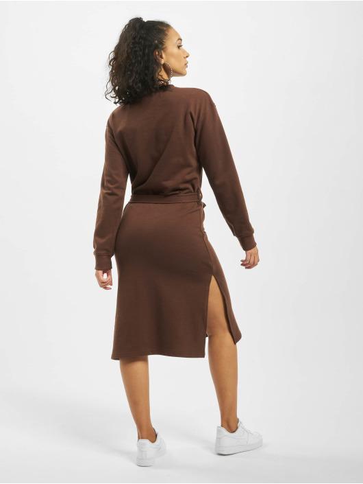 Missguided Платья Tie Belt Midi Sweater коричневый