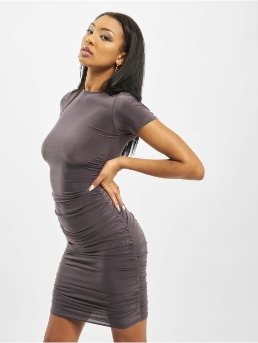 Missguided Платья Slinky Ruched Short Sleeve серый