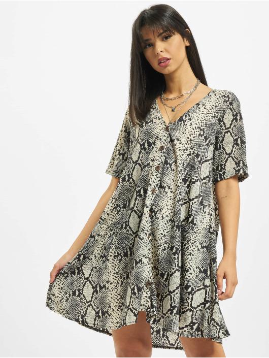 Missguided Платья Button Thru Smock Snake серый