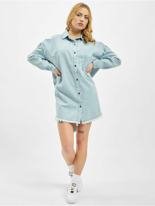 Missguided Платья Oversized Denim синий