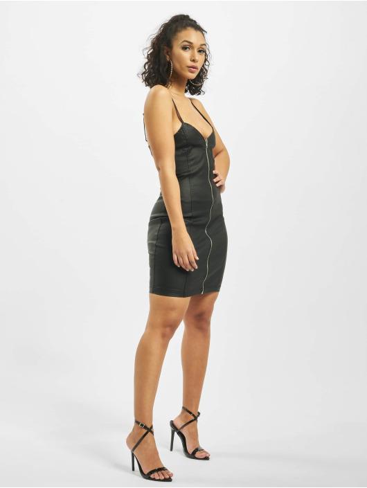 Missguided Платья Coated Zip Through Denim Cami черный