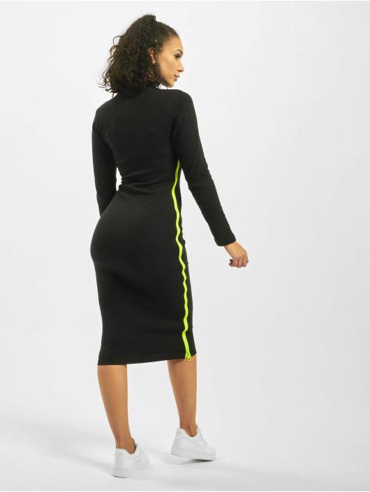 Missguided Платья Rib Highneck Longsleeve Chunky Contrast Zip черный