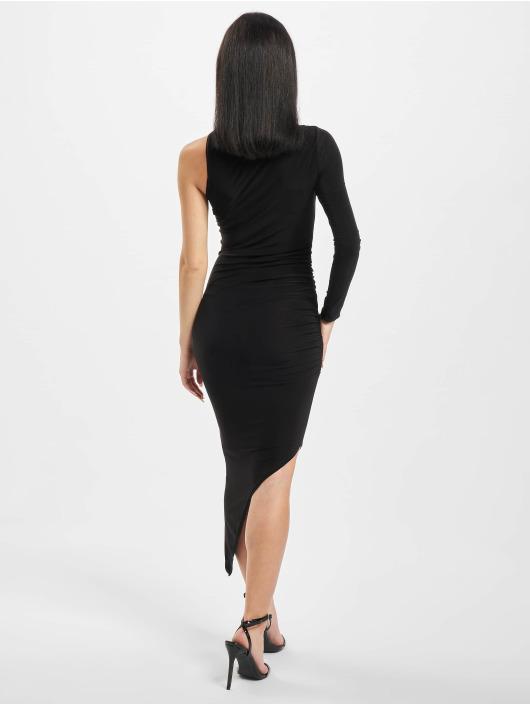Missguided Платья Slinky One Sleeve High Neck черный
