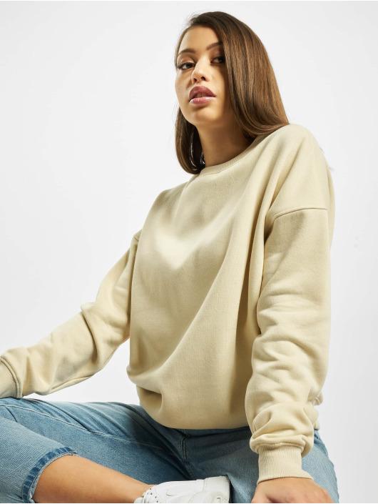 Missguided Пуловер Cropped Branded бежевый