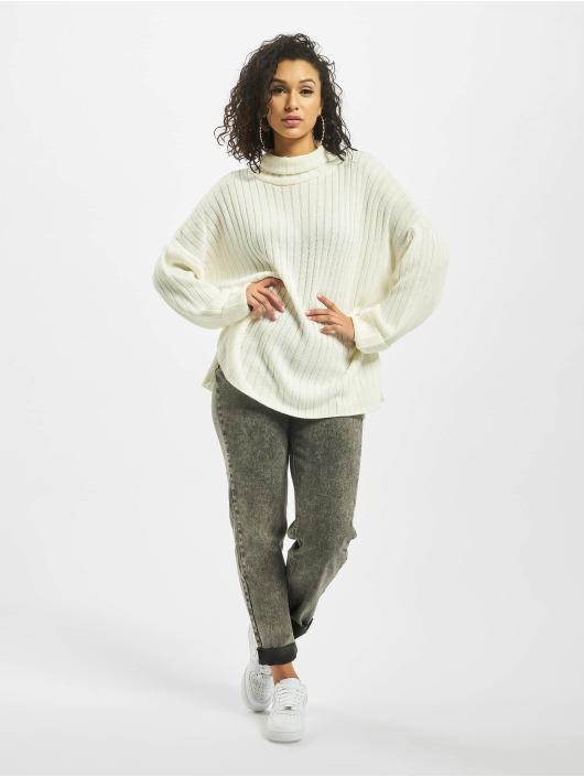 Missguided Пуловер Premium Roll Neck Step Hem белый