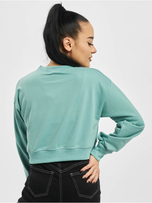 Missguided Пуловер Cropped Rib Hem бирюзовый