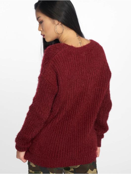 Missguided Пуловер Low V Back Oversized красный