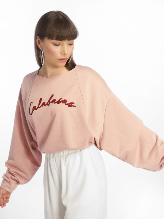 Missguided Пуловер Calabasas Cropped розовый