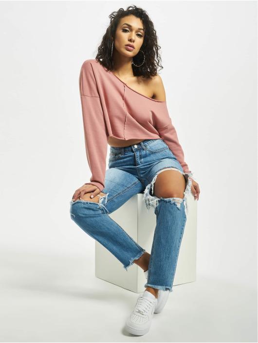 Missguided Пуловер Off Shoulder розовый