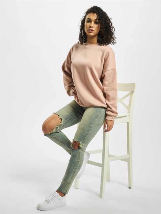 Missguided Пуловер Washed розовый