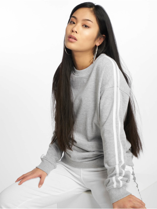 Missguided Пуловер Stripe серый