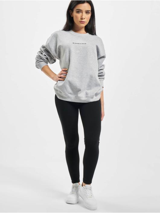 Missguided Пуловер Oversized серый