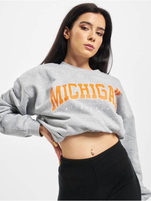 Missguided Пуловер Michegan Graphic серый